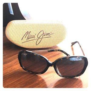 MAUI JIM Melika Tortoise Shell Gold Arm Sunglasses